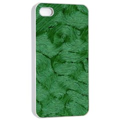 Woven Skin Green Apple iPhone 4/4s Seamless Case (White)