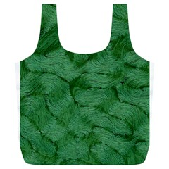 Woven Skin Green Full Print Recycle Bags (l)