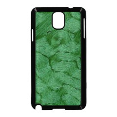 Woven Skin Green Samsung Galaxy Note 3 Neo Hardshell Case (black)