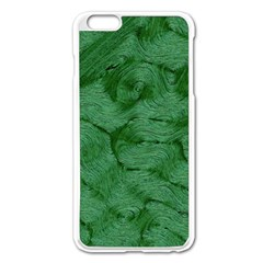 Woven Skin Green Apple iPhone 6 Plus Enamel White Case