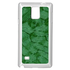 Woven Skin Green Samsung Galaxy Note 4 Case (White)