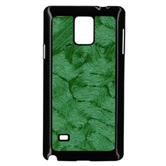 Woven Skin Green Samsung Galaxy Note 4 Case (Black)