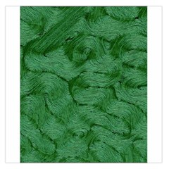 Woven Skin Green Large Satin Scarf (Square)