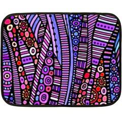 Stained glass tribal pattern Fleece Blanket (Mini)