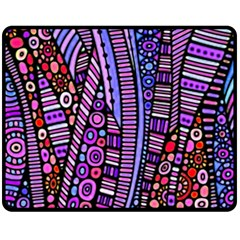 Stained glass tribal pattern Double Sided Fleece Blanket (Medium)