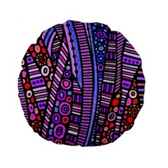 Stained glass tribal pattern Standard 15  Premium Flano Round Cushions