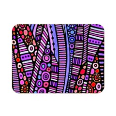 Stained Glass Tribal Pattern Double Sided Flano Blanket (mini)