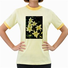 Bright Lilies Women s Fitted Ringer T-Shirts