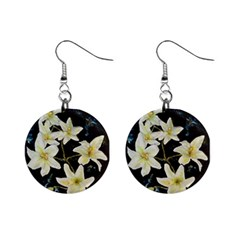 Bright Lilies Mini Button Earrings