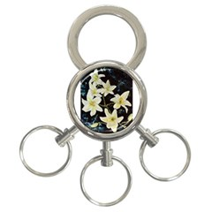 Bright Lilies 3 Ring Key Chains