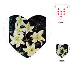 Bright Lilies Playing Cards (Heart)