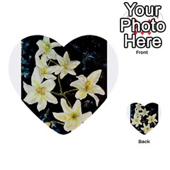 Bright Lilies Multi-purpose Cards (Heart)