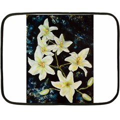 Bright Lilies Fleece Blanket (Mini)
