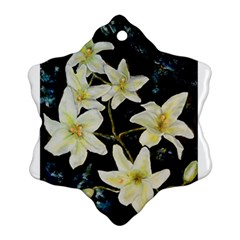 Bright Lilies Snowflake Ornament (2-Side)