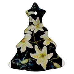 Bright Lilies Christmas Tree Ornament (2 Sides)