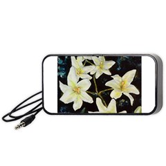 Bright Lilies Portable Speaker (black)