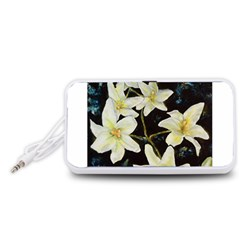 Bright Lilies Portable Speaker (White)