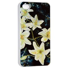 Bright Lilies Apple iPhone 4/4s Seamless Case (White)