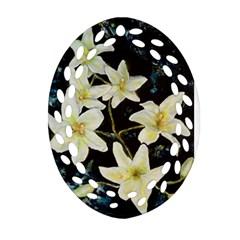 Bright Lilies Ornament (Oval Filigree)