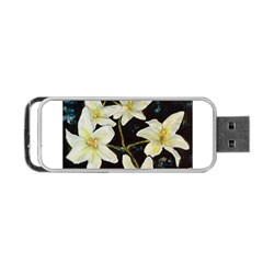 Bright Lilies Portable Usb Flash (one Side)