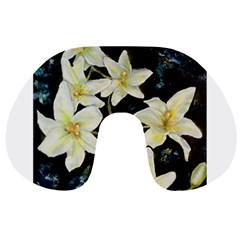 Bright Lilies Travel Neck Pillows