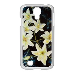 Bright Lilies Samsung Galaxy S4 I9500/ I9505 Case (white)