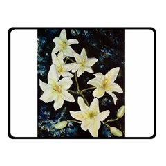 Bright Lilies Double Sided Fleece Blanket (Small)