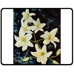 Bright Lilies Double Sided Fleece Blanket (Medium)
