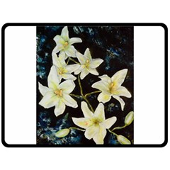 Bright Lilies Double Sided Fleece Blanket (large)