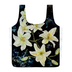 Bright Lilies Full Print Recycle Bags (l)