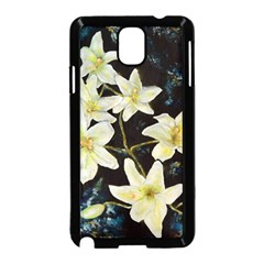 Bright Lilies Samsung Galaxy Note 3 Neo Hardshell Case (Black)