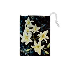 Bright Lilies Drawstring Pouches (small)