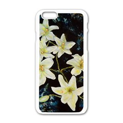 Bright Lilies Apple iPhone 6 White Enamel Case