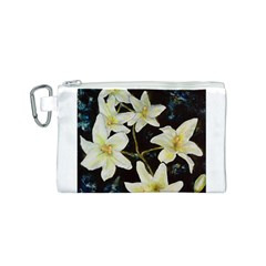Bright Lilies Canvas Cosmetic Bag (S)