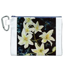 Bright Lilies Canvas Cosmetic Bag (XL)