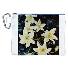 Bright Lilies Canvas Cosmetic Bag (XXL)