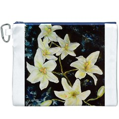 Bright Lilies Canvas Cosmetic Bag (XXXL)