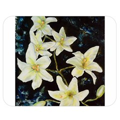 Bright Lilies Double Sided Flano Blanket (Medium)