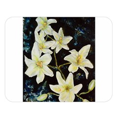 Bright Lilies Double Sided Flano Blanket (large)