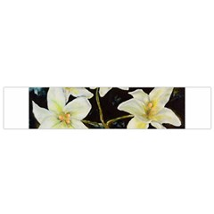 Bright Lilies Flano Scarf (Small)