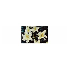 Bright Lilies Satin Scarf (Oblong)