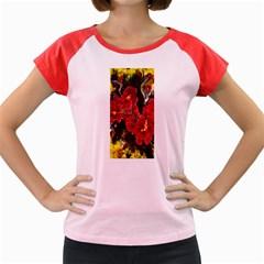 Red Orchids Women s Cap Sleeve T Shirt