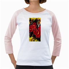 REd Orchids Girly Raglans
