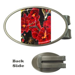 Red Orchids Money Clips (oval)