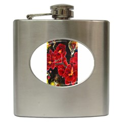 Red Orchids Hip Flask (6 Oz)