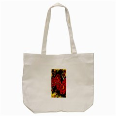 REd Orchids Tote Bag (Cream)