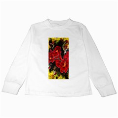REd Orchids Kids Long Sleeve T-Shirts