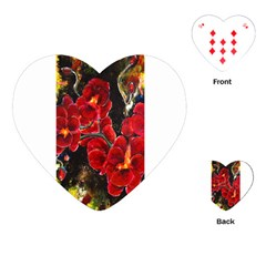 Red Orchids Playing Cards (heart)