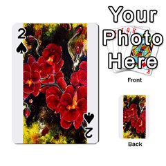 Red Orchids Playing Cards 54 Designs