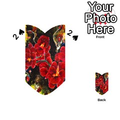 Red Orchids Playing Cards 54 (heart)